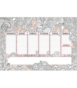 Table calendar Stolní plánovač A2 - týd. mapa - 30 listů - ANTISTRES 2022
