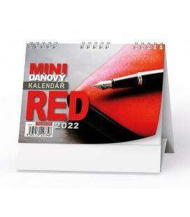Table calendar Mini daňový kalendář RED  2022
