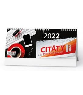 Table calendar Pracovní kalendář CITÁTY I 2022