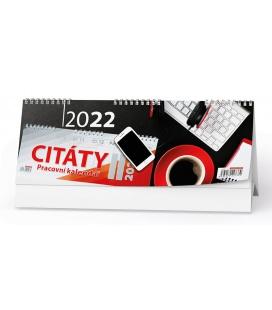 Table calendar Pracovní kalendář CITÁTY II 2022