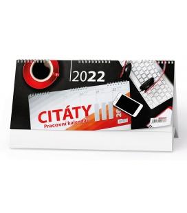 Table calendar Pracovní kalendář CITÁTY III 2022