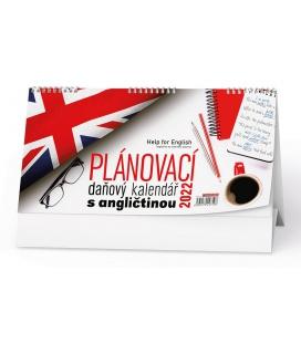 Table calendar Plánovací daňový kalendář s angličtinou 2022