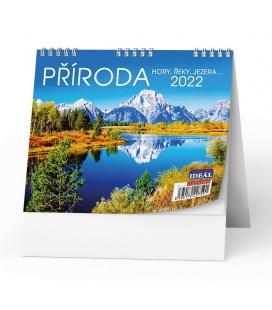 Table calendar IDEÁL - Příroda, hory, řeky, jezera… 2022