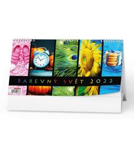 Table calendar Barevný svět 2022