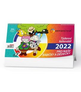 Table calendar Kalendář pro naše babičky a dědečky 2022