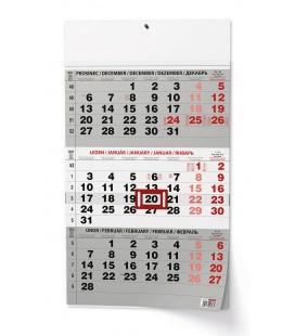 Wall calendar Tříměsíční - A3 (s mezinárodními svátky) - černý  2022