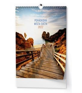 Wall calendar Pohádková místa - A3 2022