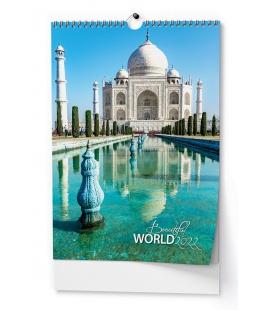 Wall calendar Beautiful world - A3 2022