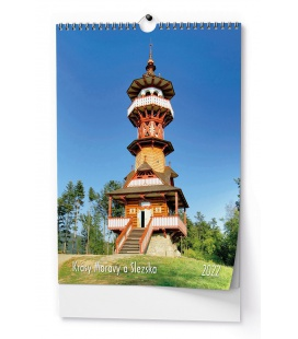 Wall calendar Krásy Moravy a Slezska - A3 2022