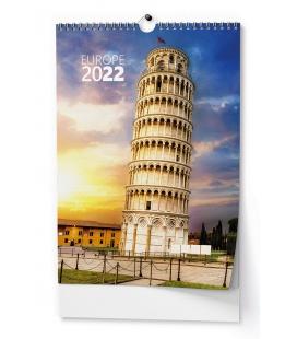 Wall calendar Evropa - A3 2022