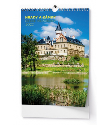 Wall calendar Hrady a zámky České republiky - A3 2022