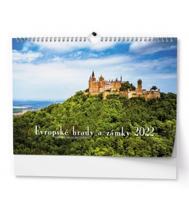 Wall calendar Evropské hrady a zámky - A3 2022