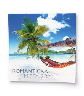 Wall calendar note  Romantická místa 2022