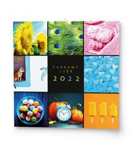 Wall calendar note  Barevný svět 2022