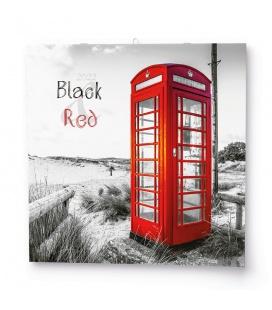 Wall calendar note  Black&Red  2022