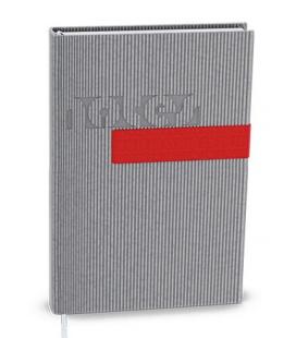 Notepad lined with a pocket A6 - vigo grey, red 2022
