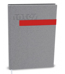 Notepad lined with a pocket A5 - vigo grey, red 2022