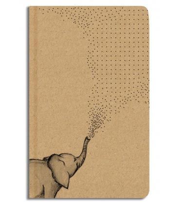 Notepad dotted - A5 - kraft - slon 2022