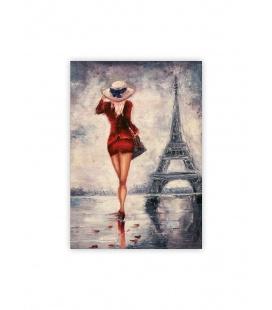Wall calendar - Wooden picture - Paris 2022