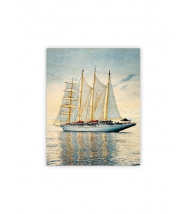 Wall calendar - Wooden picture - Sailing 2022