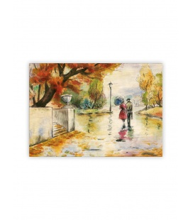 Wall calendar - Wooden picture - Romance 2022