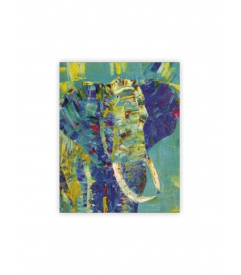 Wall calendar - Wooden picture - Elephant 2022