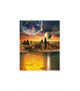 Wall calendar - Wooden picture - Cosmic 2022