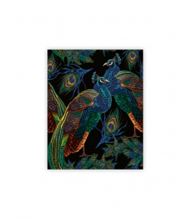 Wall calendar - Wooden picture - Peacocks 2022