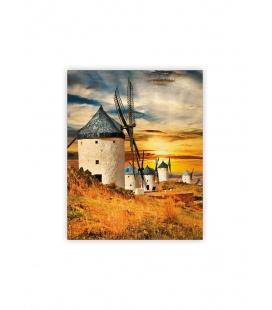 Wall calendar - Wooden picture - Mills 2022