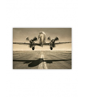 Wall calendar - Wooden picture - Airplane 2022