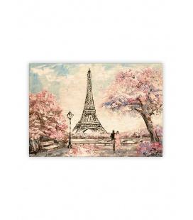 Wall calendar - Wooden picture - Eiffel Tower 2022