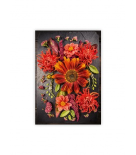 Wall calendar - Wooden picture - Flowers 2022