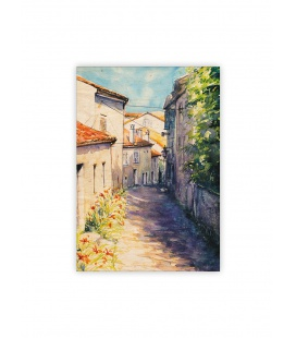Wall calendar - Wooden picture - Old Street 2022