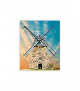 Wall calendar - Wooden picture - Windmill 2022