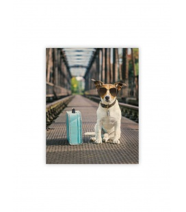 Wall calendar - Wooden picture - Dog 2022