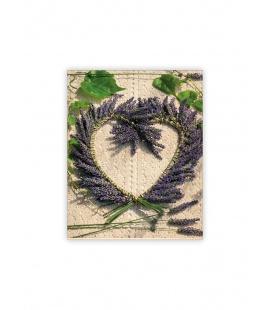 Wall calendar - Wooden picture - Heart 2022