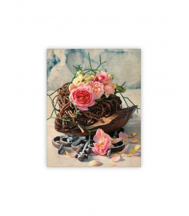 Wall calendar - Wooden picture - Roses 2022