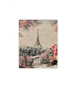 Wall calendar - Wooden picture - Eiffel Tower II. 2022