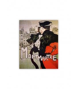 Wall calendar - Wooden picture - Montmartre 2022
