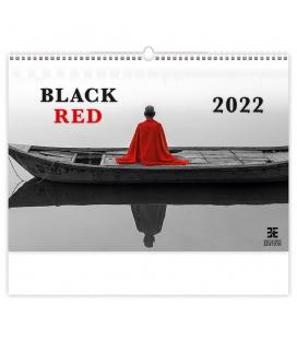 Wall calendar Black Red 2022
