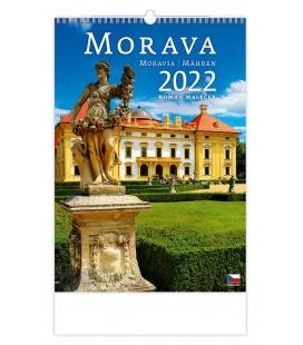 Wall calendar Morava/Moravia/Mähren 2022