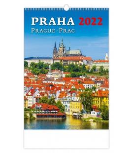 Wall calendar Praha/Prague/Prag 2022