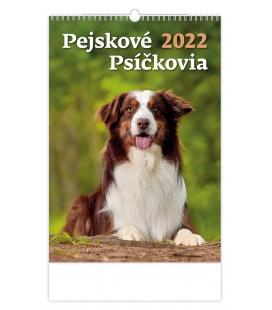 Wall calendar Pejskové/Psíčkovia 2022
