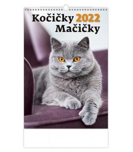 Wall calendar Kočičky/Mačičky 2022