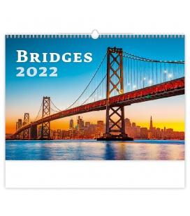 Wall calendar Bridges 2022