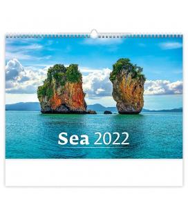 Wall calendar Sea 2022