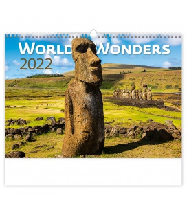 Wall calendar World Wonders 2022