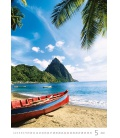 Wall calendar Tropical Beaches 2022