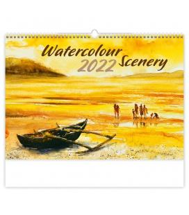 Wall calendar Watercolour Scenery 2022