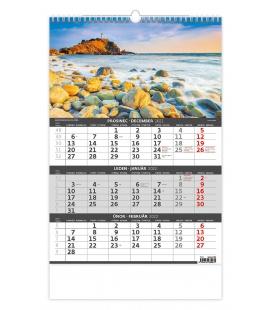 Wall calendar Coast -3 monthly / Pobřeží - 3měsíční/Pobrežie - 3mesačný 2022